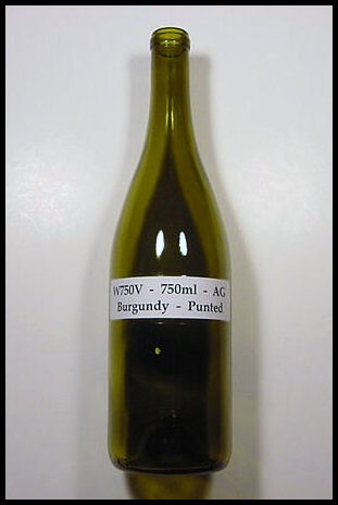 W750V - 750 ml Antique Green Burgundy Punted Wine Bottle