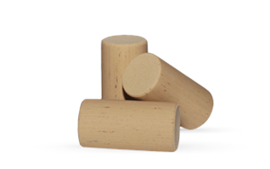 "Straight 1-1/2"" Synthetic Cork with Chamfered Edge"