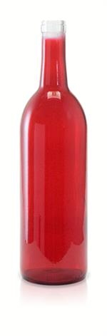 W5 - 750 ml Red Bordeaux Flat Bottom Wine Bottle Cork Finish